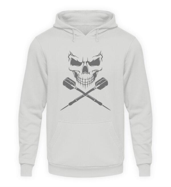 Skull Cross Darts Grey - Unisex Kapuzenpullover Hoodie-23