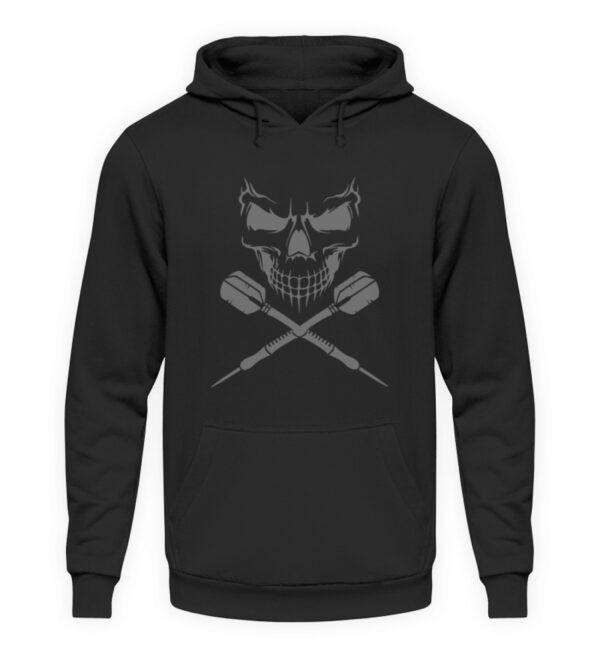 Skull Cross Darts Grey - Unisex Kapuzenpullover Hoodie-1624