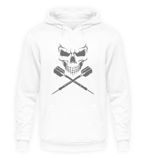 Skull Cross Darts Grey - Unisex Kapuzenpullover Hoodie-6867