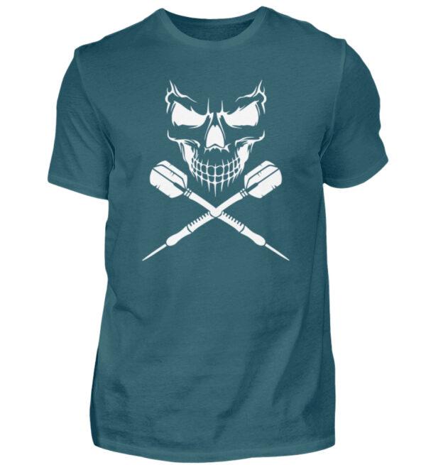 Skull Cross Darts White - Herren Shirt-1096