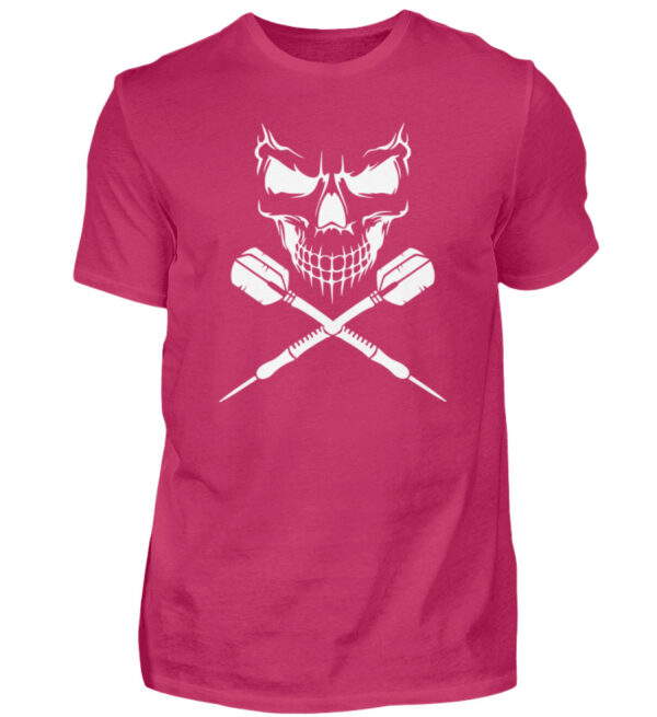 Skull Cross Darts White - Herren Shirt-1216