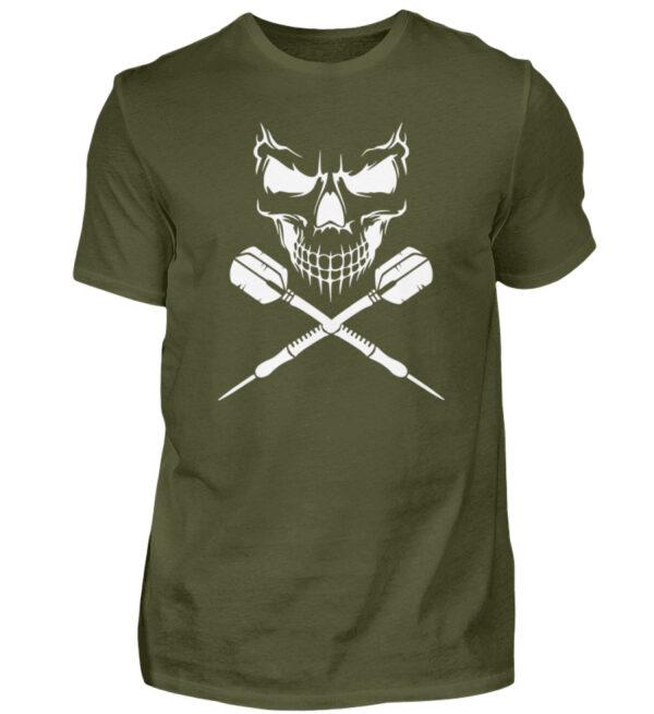 Skull Cross Darts White - Herren Shirt-1109