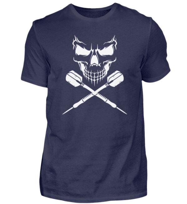 Skull Cross Darts White - Herren Shirt-198