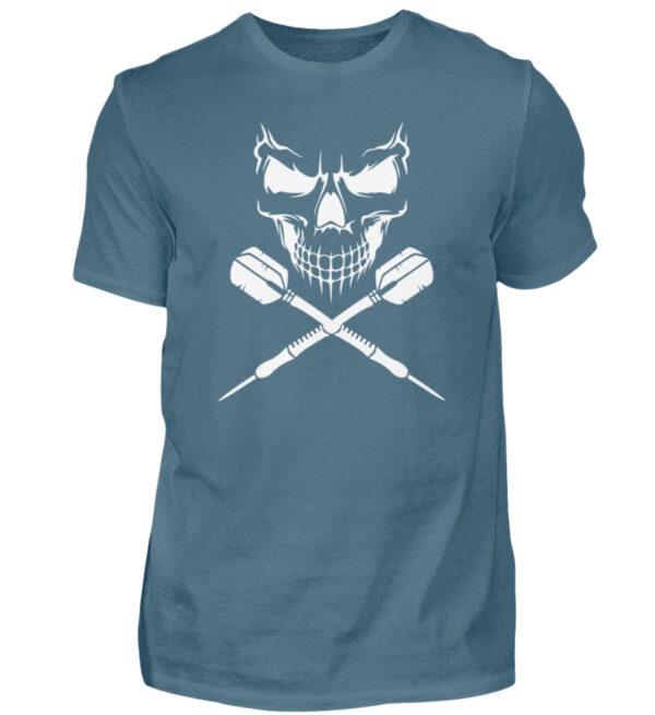 Skull Cross Darts White - Herren Shirt-1230
