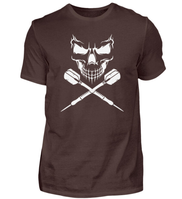 Skull Cross Darts White - Herren Shirt-1074