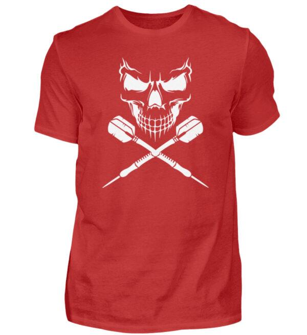 Skull Cross Darts White - Herren Shirt-4