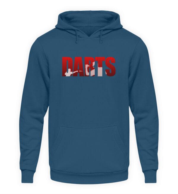 Darts - Red - Unisex Kapuzenpullover Hoodie-1461