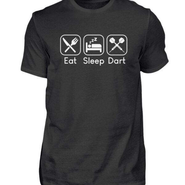 Eat Sleep Dart - BlackEdition - Herren Shirt-16