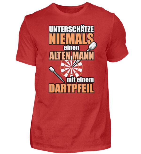 Unterschätze niemals einen alten Mann - Herren Shirt-4