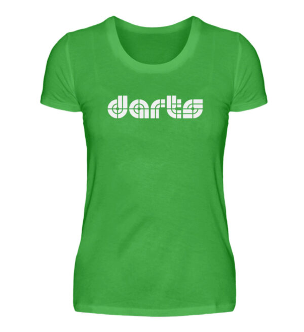 Retro Darts White - Damenshirt-2468
