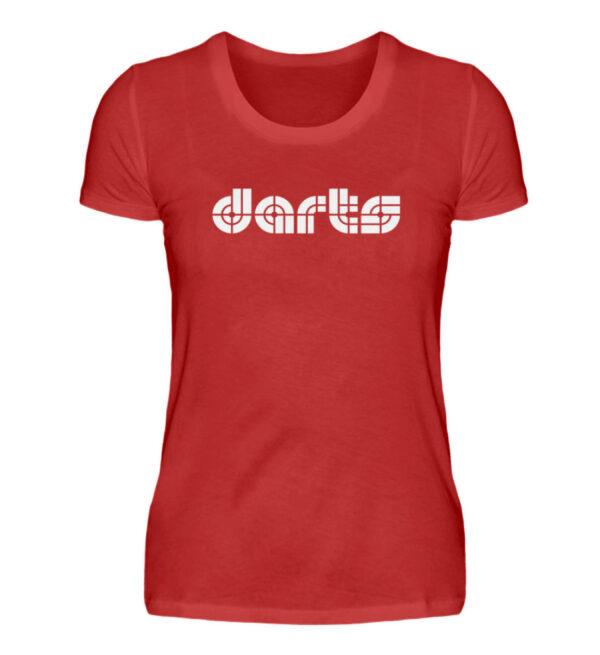 Retro Darts White - Damenshirt-4