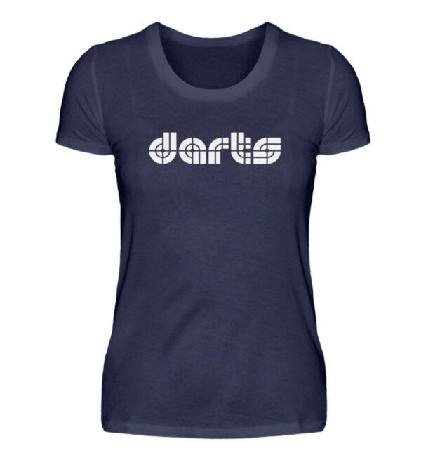 Retro Darts White - Damenshirt-198