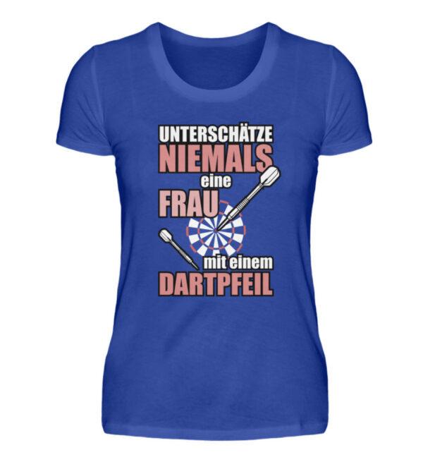 Unterschätze niemals eine Frau - Damenshirt-2496