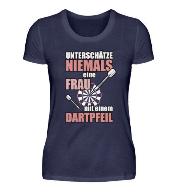 Unterschätze niemals eine Frau - Damenshirt-198