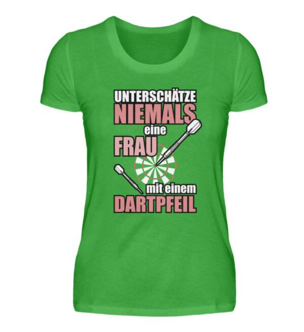 Unterschätze niemals eine Frau - Damenshirt-2468