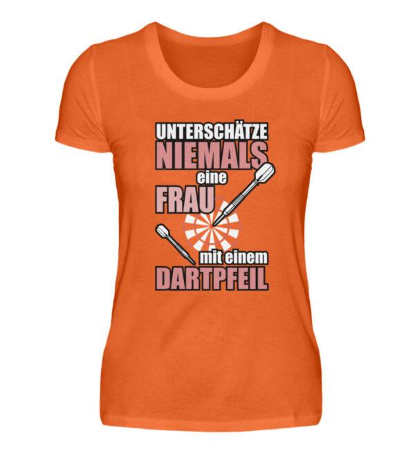 Unterschätze niemals eine Frau - Damenshirt-1692