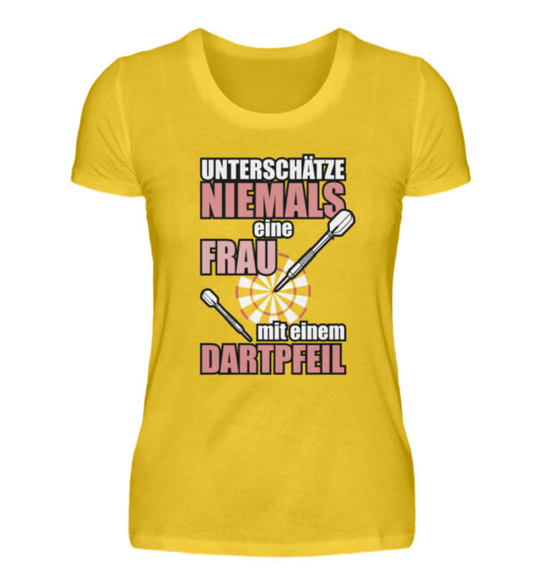 Unterschätze niemals eine Frau - Damenshirt-3201