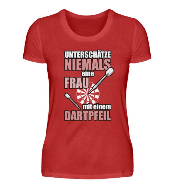 Unterschätze niemals eine Frau - Damenshirt-4