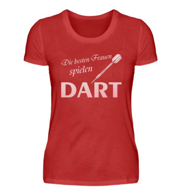 Die besten Frauen spielen Dart - Damenshirt-4