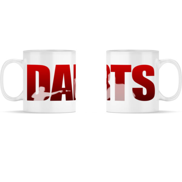 Darts - Red - Panorama Tasse Weiß-3