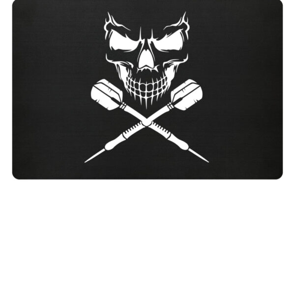 Skull Cross Darts - Fußmatte-16